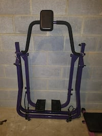 blue and black exercise equipment