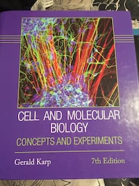 Biology textbook Cell and Molecular University Brand New....