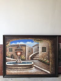 Brown and black wooden framed painting London, N6J 3W6