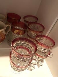 Red Ruby thumbprint mugs and punch cups  Hamilton, L9A 1T3
