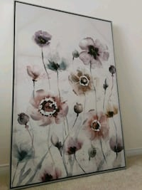 floral canvas with Siler frame  Whitby, L1R