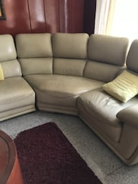 white leather 3-seat sofa Hougang