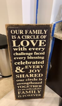 Our family canvas frame - 3ft tall. NEW! Manassas, 20111