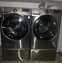 grey LG front-load washer and dryer set Camarillo, 93012