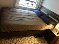 Double size IKEA bed frame. Mattress can be included for fifty extra.  Vancouver, V6G 1G8