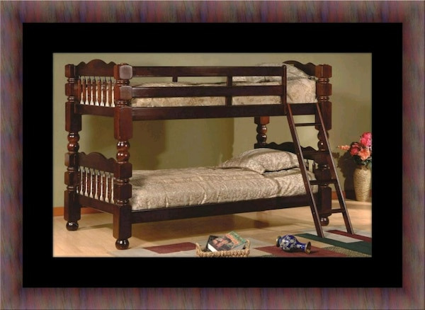Wooden twin bunkbed frame