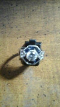 925 Saphire ring size 10  Agawam, 01001