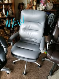 New office chair grey leather Annandale, 22003
