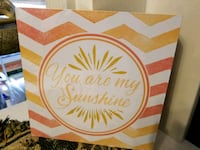 """You Are My Sunshine"" wall/plaque art (brand new) Kathleen, 31047"