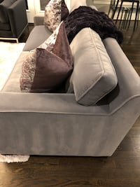 Gray fabric sofa with throw pillows brand new! Purchased from zgallerie store! Bethesda, 20816