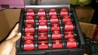 black and red heated curlers