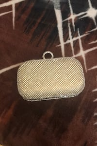 Gold with sliver diamonds Clutch bag