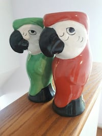 Ceramic Parrots Drinking Containers