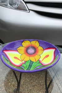BEAUTIFUL COLORFUL VINTAGE ALL HAND MADE / HAND PAINTED BOWL Biloxi, 39531