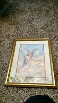 Big angel wings picture and frame Lubbock, 79410