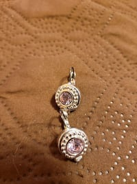 Sterling Silver and Pink Leverback Earrings 41 km