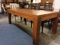 rectangular brown wooden dining table Cambridge, N1R 2G8