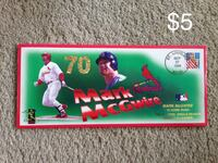 mark McGwire trading card box with text overlay Ballwin, 63021