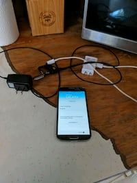 black LG android smartphone with charger Winnipeg, R3J 1H8
