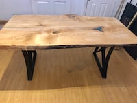 Live adage Ash dining table with resin  Guelph, N1E 5S5