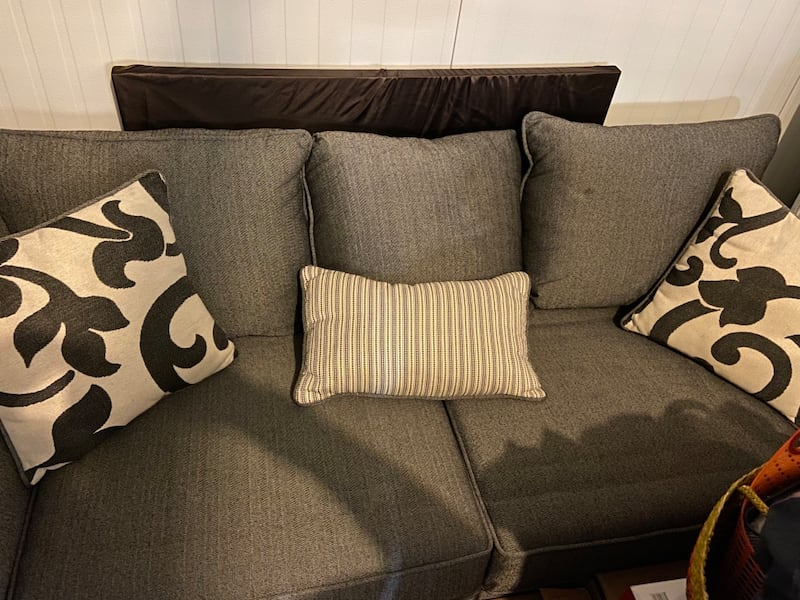 Need gone ASAP Like-new Condition Gray Sofa and Cushions (NEGOTIABLE)  b69b0063-5cae-4bfa-8753-2aafcfe48c2d