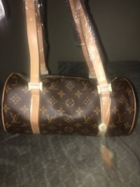Brown and white louis vuitton leather tote bag Eastpointe, 48021