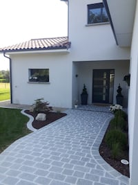 Patios are made paths walkways entrance of the houses of brick stone concrete as you like the design that you want we will do it for you. Manassas