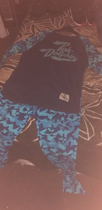 Rare full pink dolphin blue camo fit
