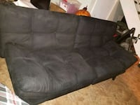 black leather 3-seat sofa Reston, 20191