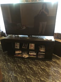 black and gray TV stand Camden, 08105