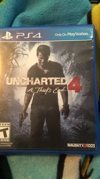 Uncharted 4 ps4 game case Hyattsville, 20785