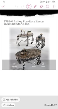 Itasca Oval Cocktail Stone Top 4 pc set ($1200.00) Henderson
