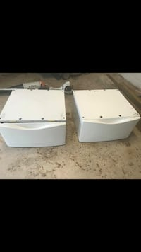 White pedestals for washer dryers