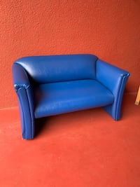 Little Kids Blue Leather Sofa With Feet Long Beach, 90815