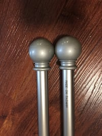 "MS Adjustable 2 x 42"" Ball Curtain Rods, 2 x Brackets and 2 x Holdbacks Luxury Set (MOVING SALE 50%OFF) Alexandria, 22303"