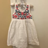 New White and red floral sleeveless dress Toronto, M1J 2W4