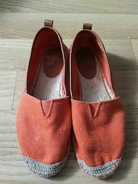 Michael Kors orange slip on espadrille sneakers