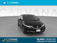 2015 *Honda* *Civic* EX-L Sedan 4D sedan Black Charlotte