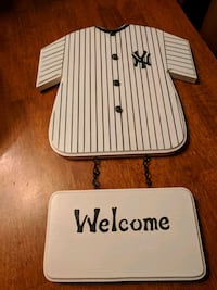 Handmade welcome sign Yankees Beacon Falls, 06403