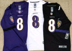 Lamar Jackson Ravens jerseys all sizes