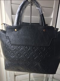 black leather Louis Vuitton tote bag Milton, L9T 6X5