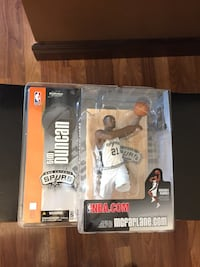 Basketball legend Tim Duncan figure.