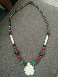 white, green, and red beaded necklace Salem, 97302