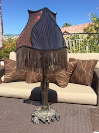 """Victorian style bustier / corset  lamp.  24""""high. Red/Black.  Perfect condition. $35 Sun City West, 85375"""