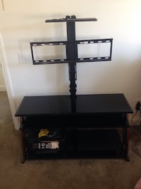 Black wooden tv stand with mount Santa Maria, 93458