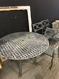 Patio set, table and 4 chairs