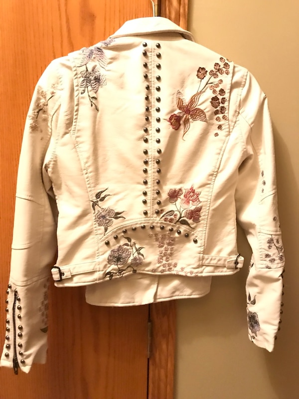 Nnew- Leather Embroidered & Stud beaded jacket.   New 2d996532-a130-42ea-a43f-7ff02d234f5f