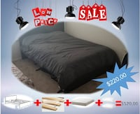 black wooden bed frame with white bed sheet Mc Lean, 22043
