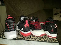 two pairs of Air Jordan basketball shoes