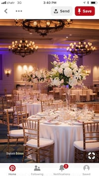 Blush, gold, blue table cloths for rental  Brampton, L7A 2A9